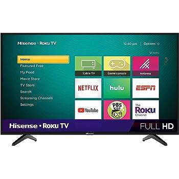 Hisense 43-Inch Class H4 Series LED Roku Smart TV with Alexa Compatibility (43H4F, 2020 Model)