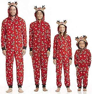 Pijamas Familiares Navideñas Pijama Navidad Familia Mono Navideños Mujer Niños Niña Hombre Pijama Reno Entero Una Pieza Trajes para Navidad Pijamas a Juego Manga Larga Chicas