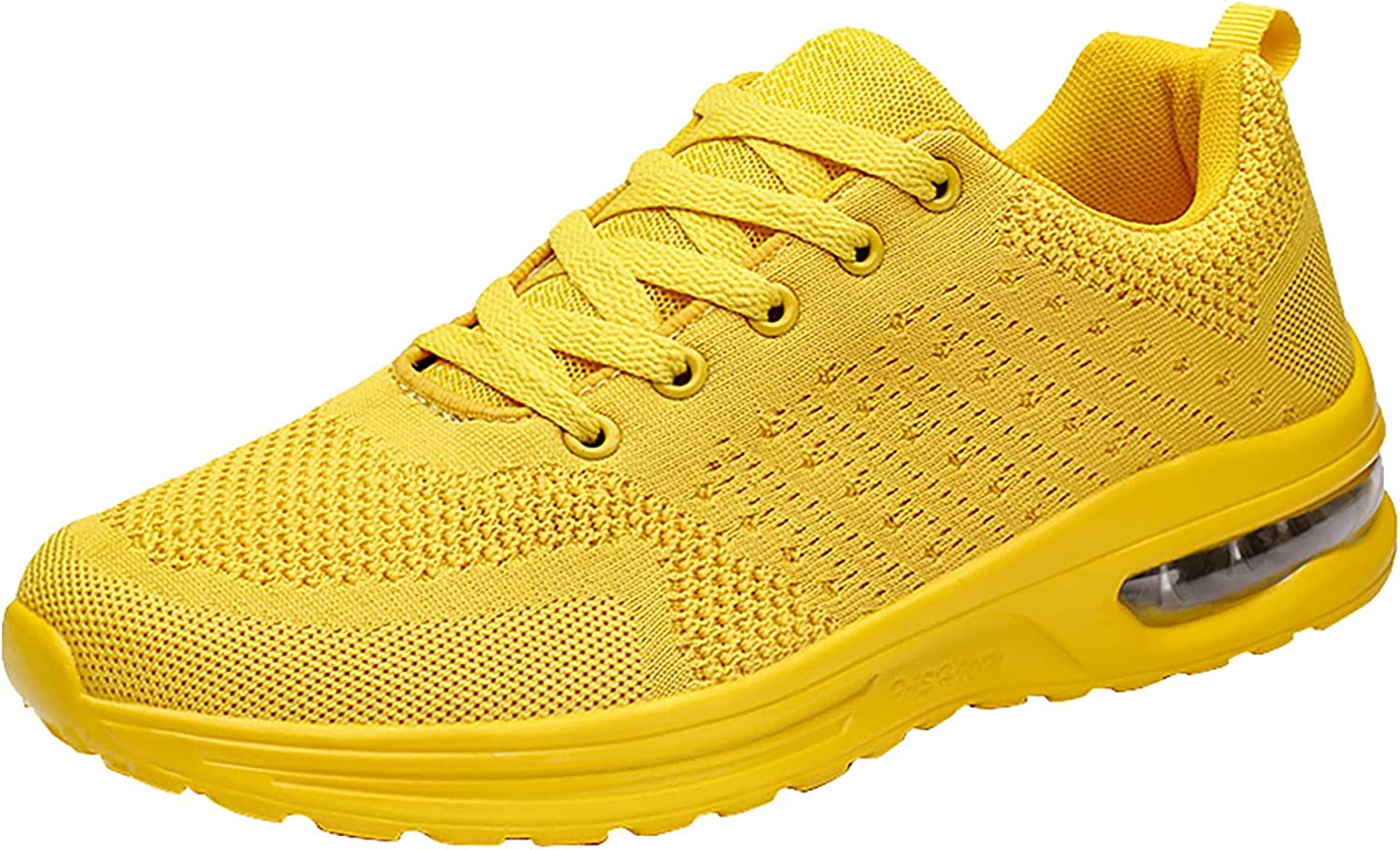 Women's Air Athletic Tennis Sneaker, Lace Up Mesh Breathable Running Shoes, Sport Gym Jogging Fitness Walking Shoes