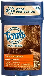 Tom's of Maine For Men Deep Forest Deodorant 2.25 oz (Packs of 4)