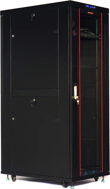 32U Rack 39 Inch Deep Server Cabinet IT Data Network Rack Enclosure