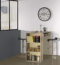 Diagone Scandinave Timeo Desk, Brown/White, 60 H x 112 W x 15 D cm