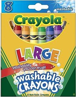Crayola 52-3280 Large Crayola Washable Crayons 8 Pack