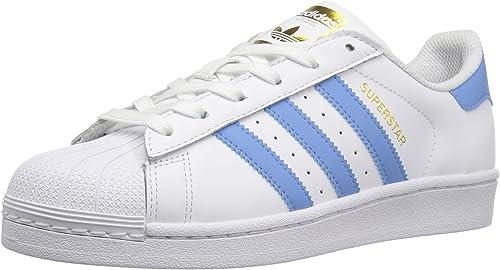 Adidas Originals Wohommes Superstar chaussures FonctionneHommest, blanc Columbia Columbia bleu Metallic or, (9 M US)  nouveau sadie