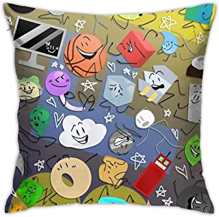 KIILA Battle for Bfdi Home Decorative Throw Pillow Cases Sofa Couch Cushion Throw Pillow Covers 18x18 Inch