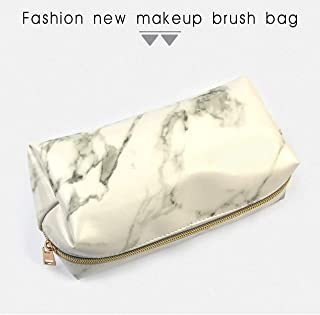 Marbled Makeup Bag Portable Makeup Brush Storage Bag Beauty Tools Lightweight High intensity and durable