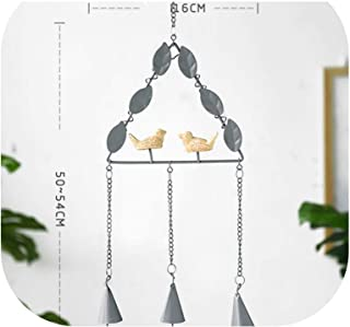 Japanese Style Bird Metal Wind Chime with Birds Garden Outdoor Decor Wind Chime Bell,1