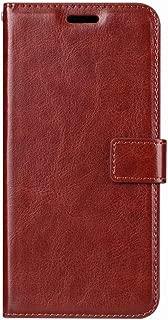 Lodsy Compatible for Case for Sony Xperia X Xa Xz Xa1 Xz1 Xa2 Plus Xz2 Compact Premium Xz3 L1 L2 Leather Wallet Flip Case Stand Back Cover,Xz Premium,Brown