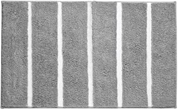 mDesign Soft Microfiber Polyester Non-Slip Long Stripe Spa Mat/Runner, Plush Water Absorbent Accent Rug for Bathroom Vanit...