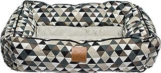 Mog & Bone Bolster Dog Bed Mocca Diamond Print Large