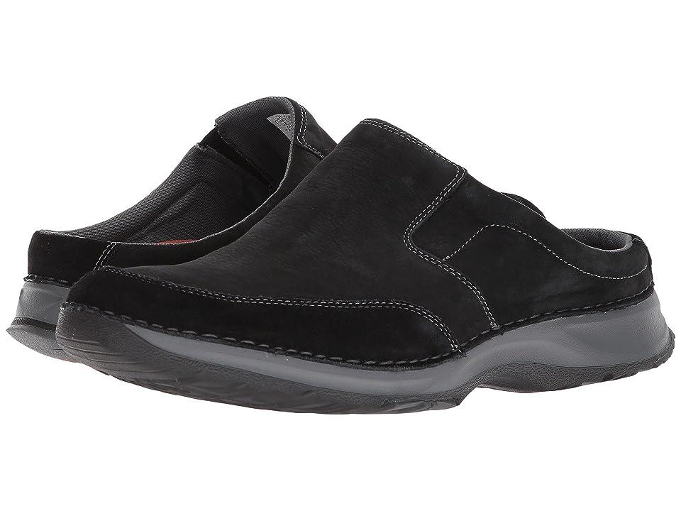 Rockport Rocsports Lite Five Clog (Black Leather) Men