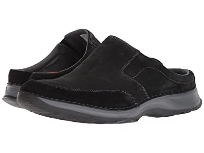 Rockport Rocsports Lite Five Clog (Black Leather) Men