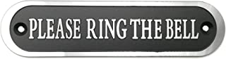 Will's Family Store Please Ring The Bell Aluminum Doorbell Sign Black and Silver 5.5x1.4 inch