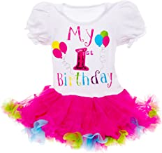Baby Girls Birthday Outfit - Its My Birthday Printed Tutu Dress for Toddlers by Silver Lilly
