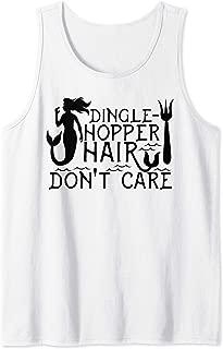 Dinglehopper Hair Don't Care | Funny Mermaid Gift Tank Top