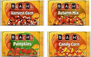 Brachs Candy Corn Bulk Variety Pack of 4 Bags - 80 oz Total - Classic Candy Corn, Mellowcreme Autumn Mix, Mellowcreme Pumpkins, & Harvest Corn