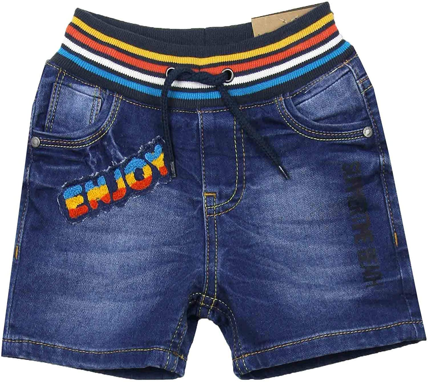 Losan Boys Jogg Jean Shorts with Striped Waistband, Sizes 2-7