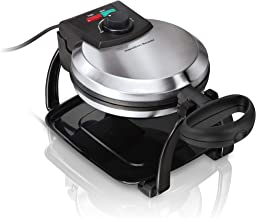Hamilton Beach Flip Belgian Waffle Maker with Browning Control, Non-Stick Grids,..