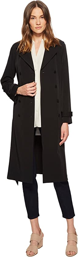 Eileen Fisher Recycled Polyester Water-Resistant Trench Coat