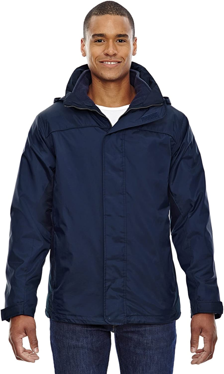North End Mens 3-In-1 Jacket (88130) -MIDN NAVY 71 -5XL