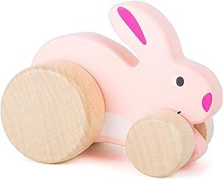small foot 11047 glidande djur hare, tillverkad av 100 % FSC®-certifierat trä, främjar fantasin och kreativiteten från 12 ...