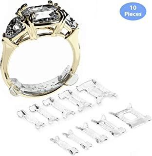 Ringo Invisible Ring Size Adjuster for Loose Rings Ring Adjuster Fit Any Rings, Ring Sizers, 10 PCS, Assorted Sizes