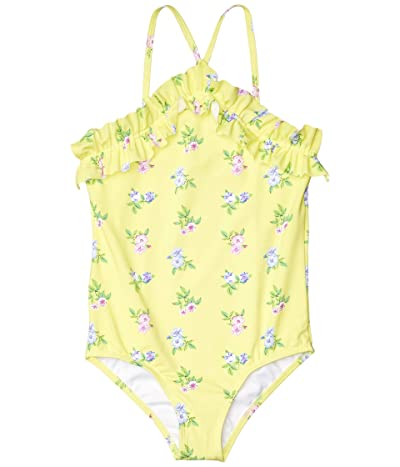Janie and Jack Floral One-Piece Swim (Toddler/Little Kids/Big Kids) (Yellow) Girl