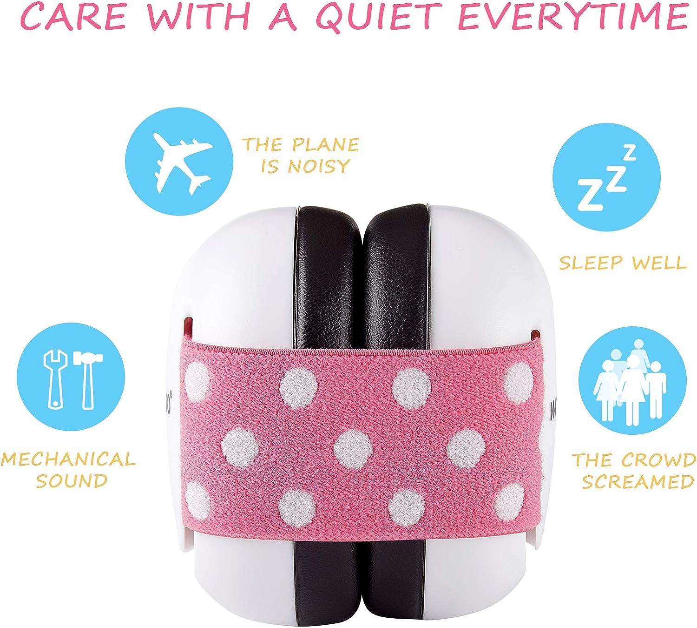 WORCBGIO 3-24 Months Infant Ear Protection Headphones Baby Earmuff