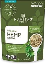Navitas Organics Hemp Seeds 8oz. Bag, 15 Servings — Organic, Non-GMO, Low Temp-Hulled, Gluten-Free.