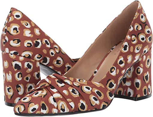 Brown Multi Spotted Leopard Fabric