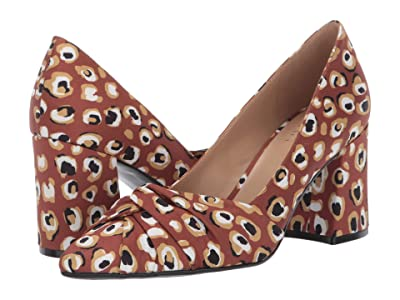 Naturalizer Helena (Brown Multi Spotted Leopard Fabric) High Heels
