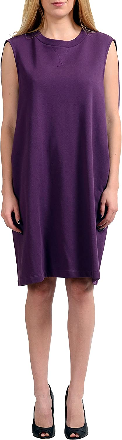 Maison Margiela MM6 Purple Sleeveless Women's Shift Dress US M IT 42