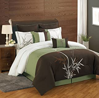 Best brown and green comforter set Reviews