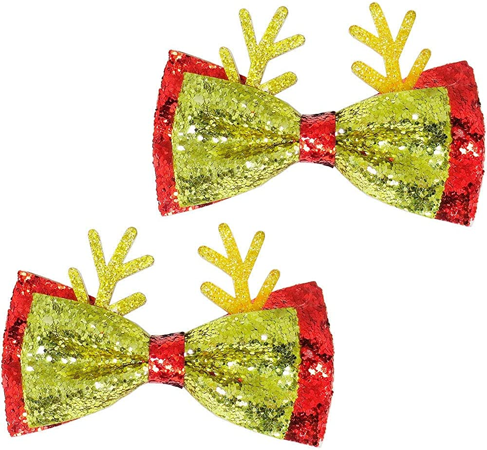 HollyDel Christmas Socks security and New Orleans Mall Scarves; Hair Reindeer Glitter Gold