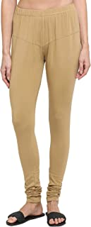 Dixcy Scott Slimz Women's Leggings Solid Skin Fit Cotton Lycra Chudidhar Leggings K1-PR3988PA Skin - CC-005 Size FS