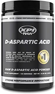 XPI Raw D-Aspartic Acid Powder 300 Grams, 100 Servings - Testosterone Support, Made in The USA