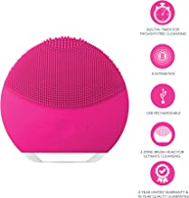 FOREO LUNA mini 2 Facial Cleansing Brush and Portable Skin Care device made with Ultra Hygienic Soft Silicone for Every Skin Type USB Rechargeable