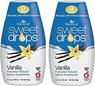 Sweet Leaf Sweet Drops Vanilla Flavor, 1.7 Fluid Ounce (2 pack)