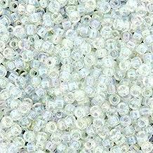 Miyuki Round Seed Bead Size 8/0 22g Crystal AB