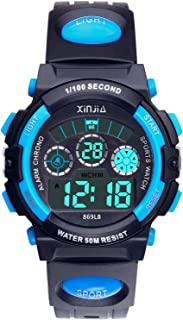 Kids Boys Girls Digital Watch, 50M(5ATM) Waterproof 7...
