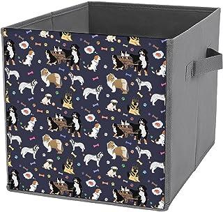 Cubes de rangement pliables en toile avec motif de chien coloré - Grande capacité - Panier de rangement pliable et panier ...