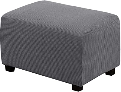 TeeBetter Ottoman Slipcover Rectangle Ottoman Cover Folding Storage Stool Furniture Protector Footrest Footstool Slipcovers with Elastic Bottom Machine Washable Sofa Couch Cover