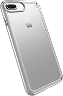 Speck Products Presidio Show Cell Phone Case for iPhone 7 Plus, 6S Plus and 6 Plus - Clear/Sterling Silver
