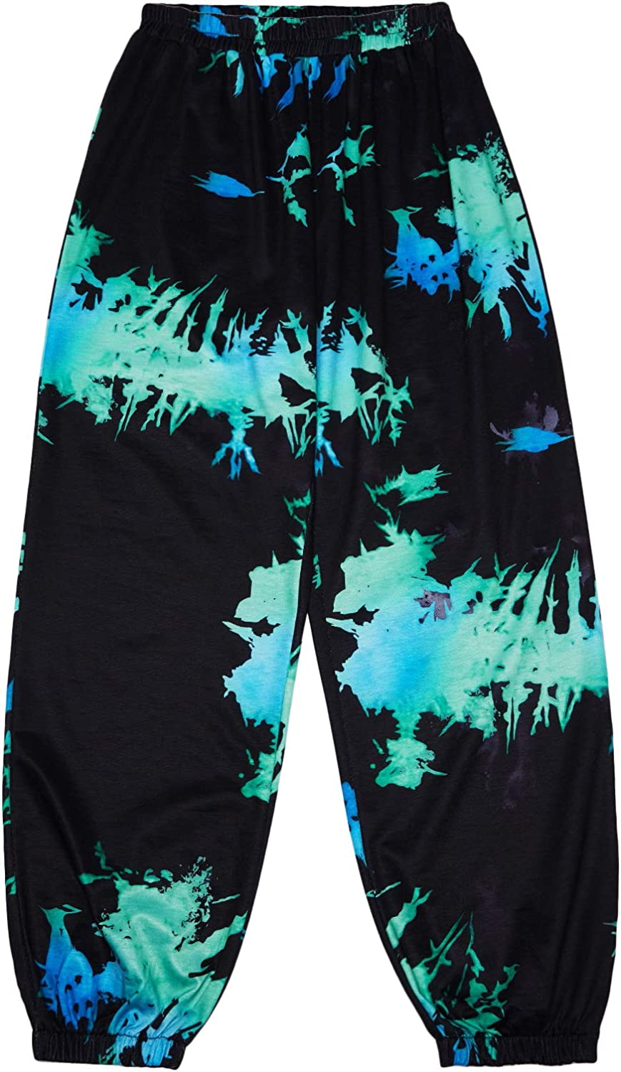 SOLY HUX Women's Casual Elastic High Waisted Tie Dye Sweatpants Joggers Pants