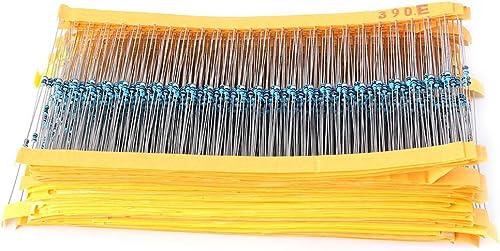 popular Mallofusa 1/8 discount Resistor Kit 97 Values x lowest 25Pcs=2425Pcs Metal Film Resistors Assortments Kits online sale