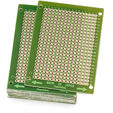 AUXcell 4x6cm Double Sided Universal Printed Circuit Board for DIY Soldering 10pcs