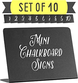 chalkboard table sign