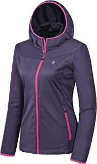 Little Donkey Andy Women's Lightweight Hooded Softshell Jacket for Travel Hiking Running, Windproof, Water Repellent
