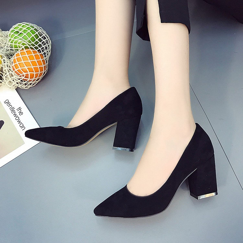 SED Tragen Sie Hochhackige Schuhe Mode Joker Schuhe Spitz Flach Mund Schuhe  | Sehr gute Farbe