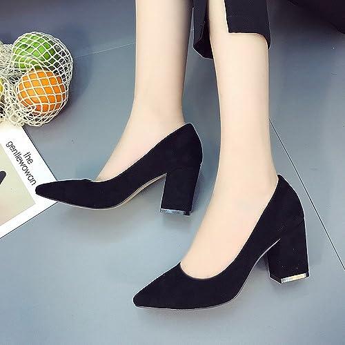 VSR Porter Des Des Chaussures à Talons Hauts Chaussures de Joker de la Mode Pointue Bouche Peu Profonde Chaussures  belle